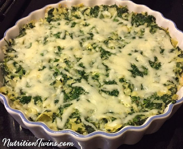 """Skinny Spinach Artichoke Dip Bites   Only 139 Calories for entire """"chips"""" and dip portion   Satisfying Protein & Fiber Packed   For MORE RECIPES, Fitness & Nutrition Tips please SIGN UP for our FREE NEWSLETTER www.NutritionTwins.com"""
