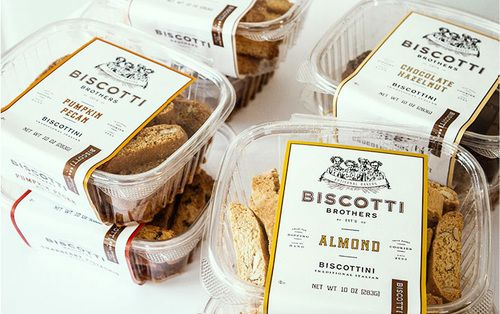 First came the re-branding of Biscotti Brothers, and now the #plastic #packaging. Designed by Stitch Design Co.