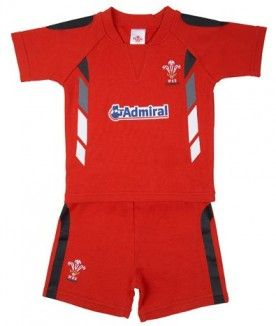 Wales WRU Rugby T-Shirt & Shorts Set - From 3-6 months - 2-3 years. £11.99.