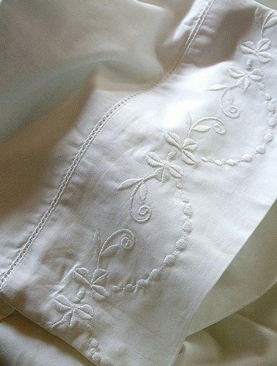 White linen...