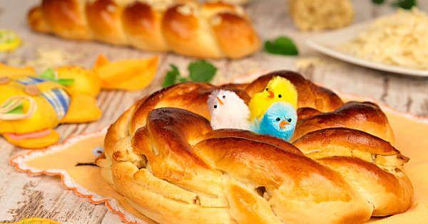 Wielkanocne wianki z marcepanem