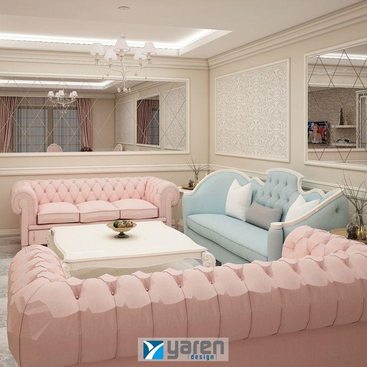 Pastel tonlar ve şık tasarımlarla eviniz aydınlansın. #yarendesign