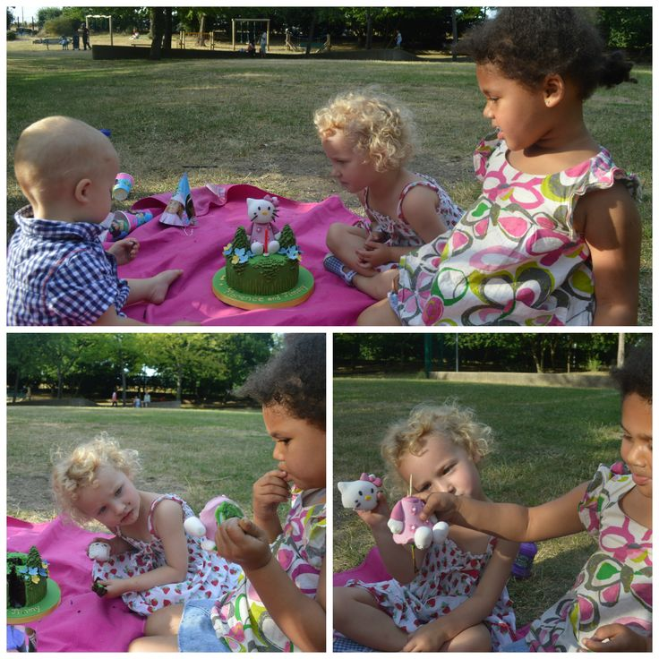Impromptu picnics in the park with a cake from Cakes by Robin :-)