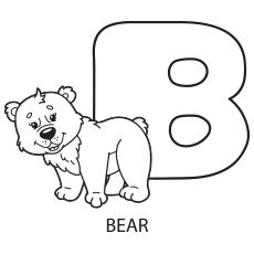 Alphabet Upper Case Letter B Coloring Pages to Print