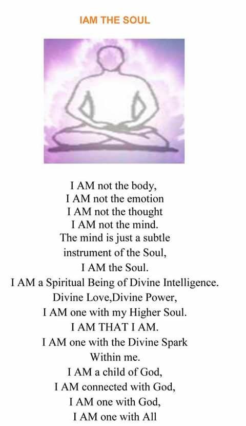 Soul affirmation