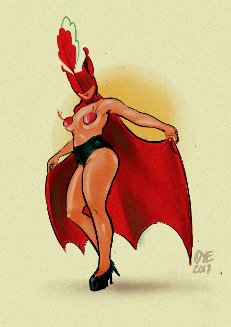#CHARACTERDESIGNCHALLENGE #burlesque #batlady #dancer #show #showdancer #bat #illustration #procreate #ipadpro #NSFW?