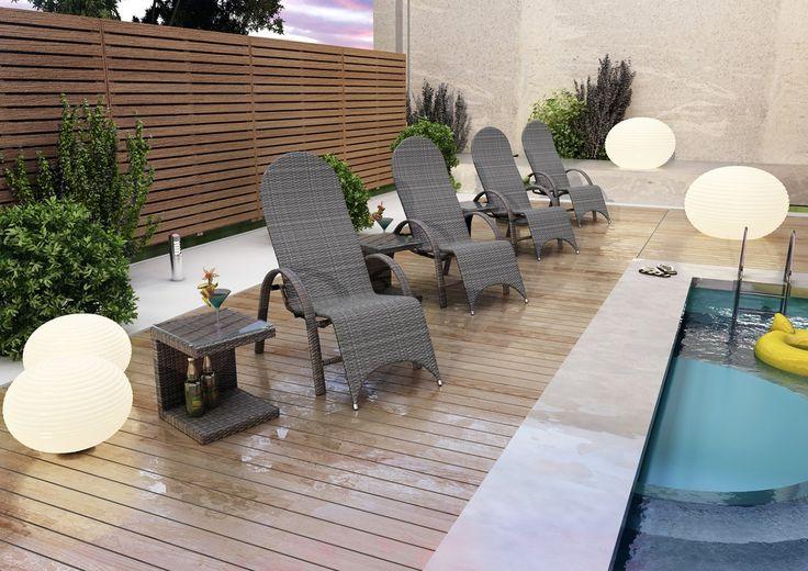 Leżak SWING - prod. Oltre Outdoor Indoor Design (meble ogrodowe technorattan meble technorattan meble ekskluzywne meble ogrodowe technorattan zestawy ogrodowe z technorattanu meble tarasowe, Garden Space)