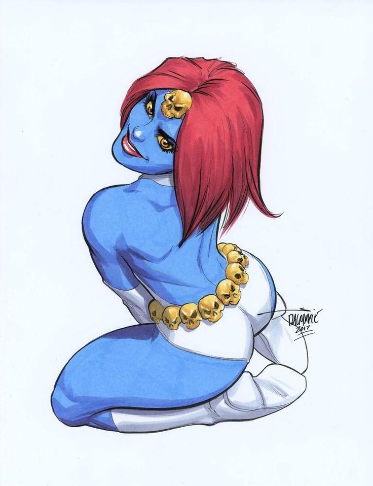 Sexy Mystique Marvel Comics X-Men original art by Scott Dalrymple CGC it?
