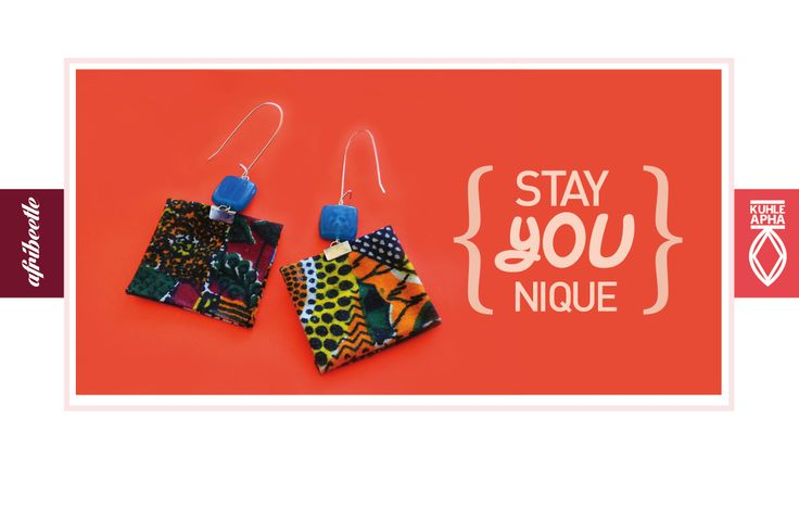 Earrings made with printed fabric from #Senegal