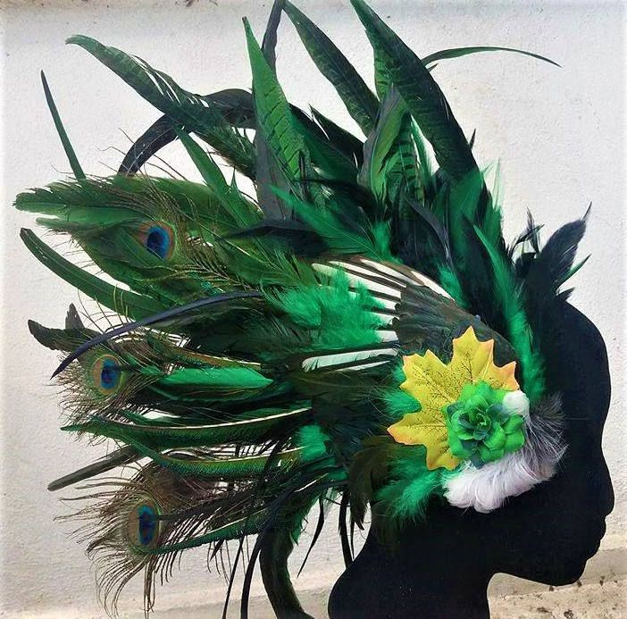 Extraordinary feather headpieces by YourDeadlyDesires on Etsy