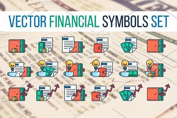 Financial Symbols Set by barsrsind on @creativemarket