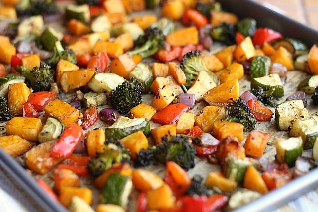 Rosemary Roasted Vegetables -- Great go-to recipe for whatever veggies ...