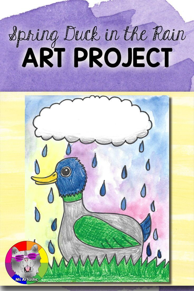 Unique and creative art for Spring! Create a Duck in the Rain, spring art project with your students. This is a great way to allow them to reflect on the changes that occur in the spring. Spend an afternoon creating art!This product is complete with a visual and text step-by-step (each step on its own page with description), a rubric for marking, a lesson plan, a finished example, and a step-by-step drawing handout to allow your students to create this piece successfully!