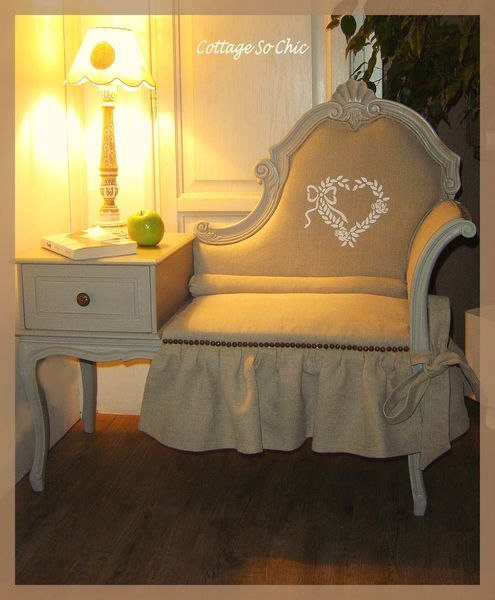 telephone table chair, I want one for my dining room... But without the frill.