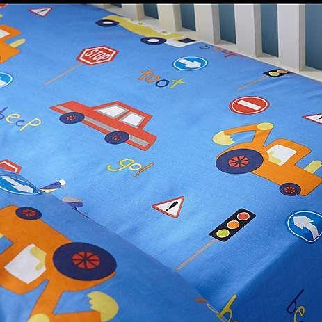 Transport Blue Bed Linen Collection | Dunelm