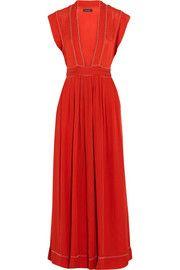 Isabel Marant Mick bead-embellished woven silk maxi dress ($1,875)
