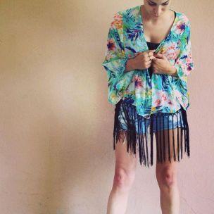 Exotic Fringe kimono