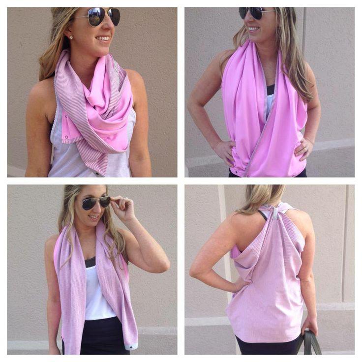 Lulu lemon Vinyasa scarf - ways to wear it