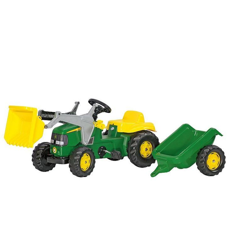 John Deere Kids' Tractor with Trailer Ride-On by Kettler, Multicolor