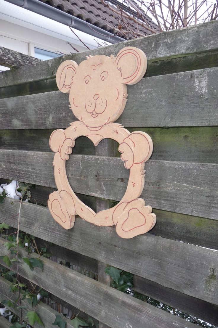 Teddy Bear Mirror, finally cut out and ready to shape and sculpt...!    Great Thanks to Dawn Brooks for the inspiration..!!