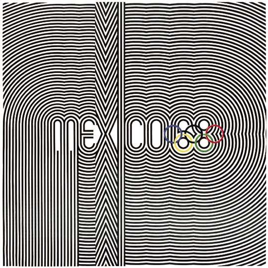 Mexico City 1968 - Poster by Pedro Ramirez Vazquez, Eduardo Terrazas and Lance Wyman