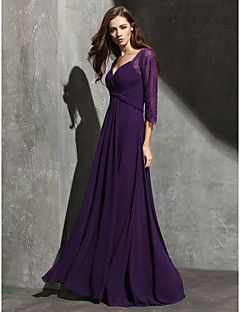 Formal Evening Dress - Grape A-line Sweetheart Floor-length ... – USD $ 109.99