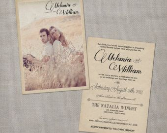 postcard wedding invitations wedding guest by nostalgicimprints - Postcard Wedding Invitations