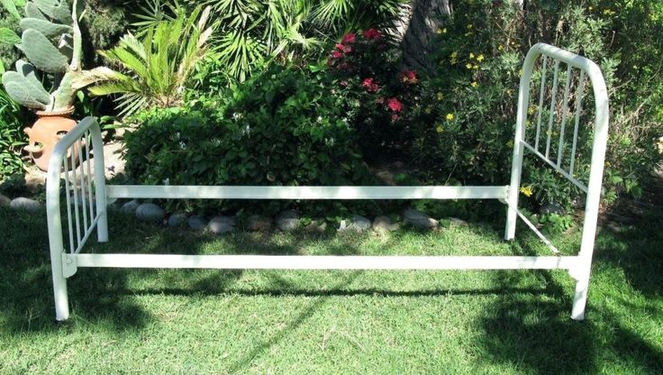 Old Metal Twin Bed Frame