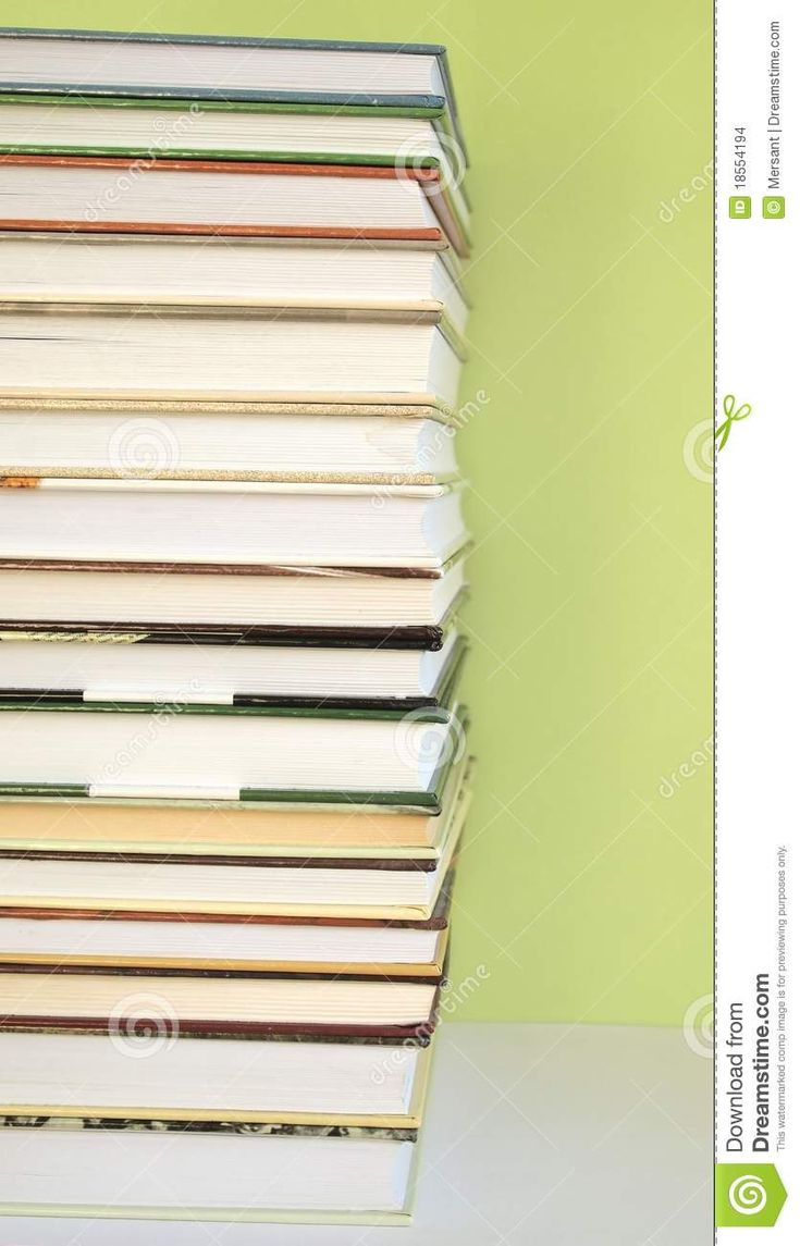 Some books with green backgrund