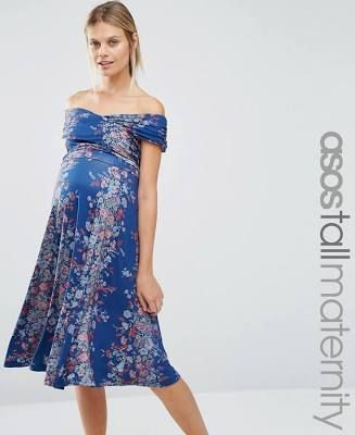 navy floral maternity dress