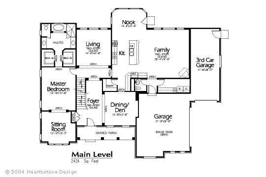 Hearthstone Main Floor Plan