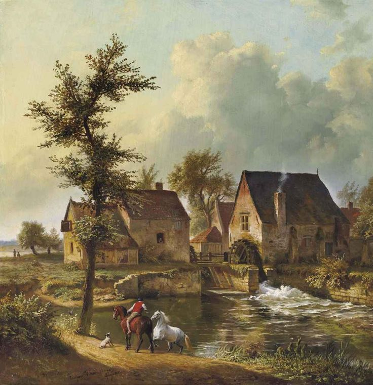 eugene-joseph_verboeckhoven_jean-baptiste_de_jonghe_chevaux_a_la_mare_d5581308g.jpg (990×1024)