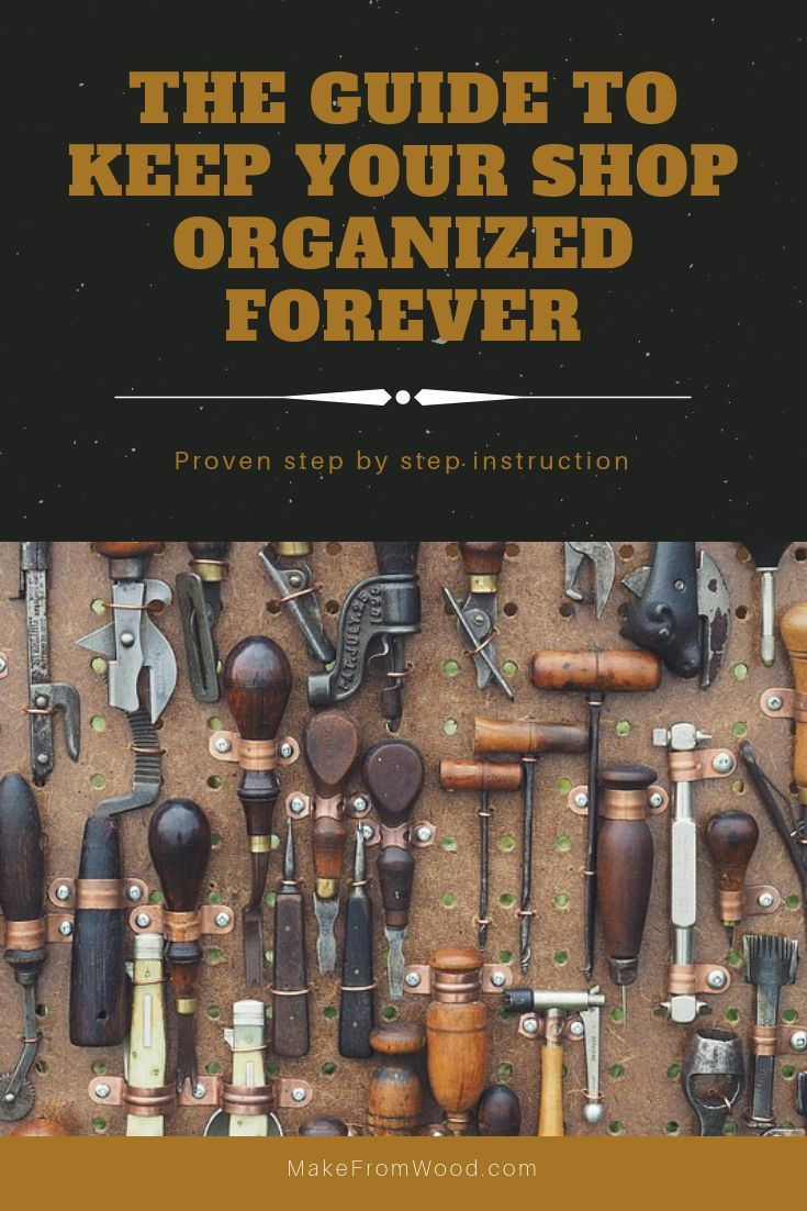 DIY Woodworking Ideas Working in a clean and organized shop or garage will save time and reduce frustr...