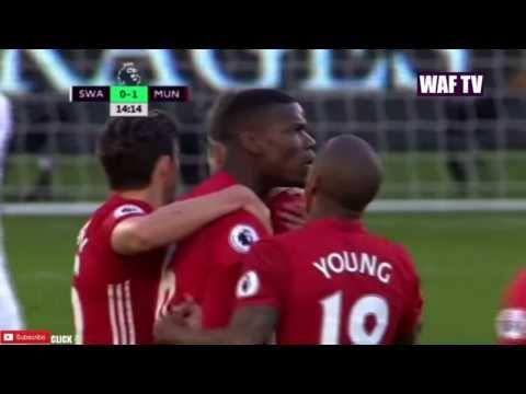 Paul Pogba Goal vs Swansea | Man United vs Swansea City 2-0