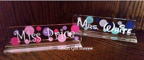 Valentine's Day Gift  acrylic name plate  by santasgiftshoppe