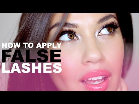 How To Apply False Lashes | Applying Fake Lashes for Beginners | Eman - YouTube