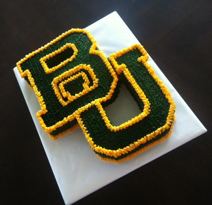 #Baylor University logo birthday or grooms cake! #SicEm