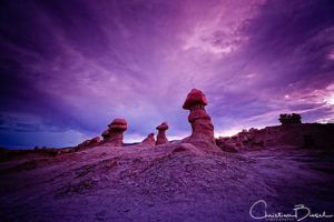 Blue Hour In The Goblin Valley