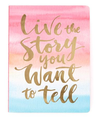 Live The Story Medium Coptic Bound Journal