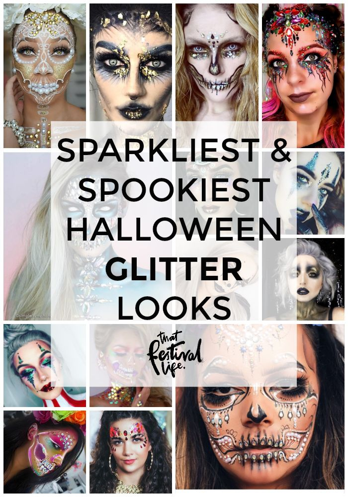 4 Extra Sparkly, Spooky and Stunning Halloween Glitter Make-up and Face Paint Inspiration Ideas