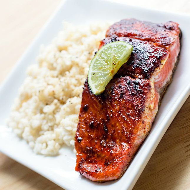 Delicious, easy & #healthy Skinny Sweet and Spicy Salmon that the whole family will enjoy.