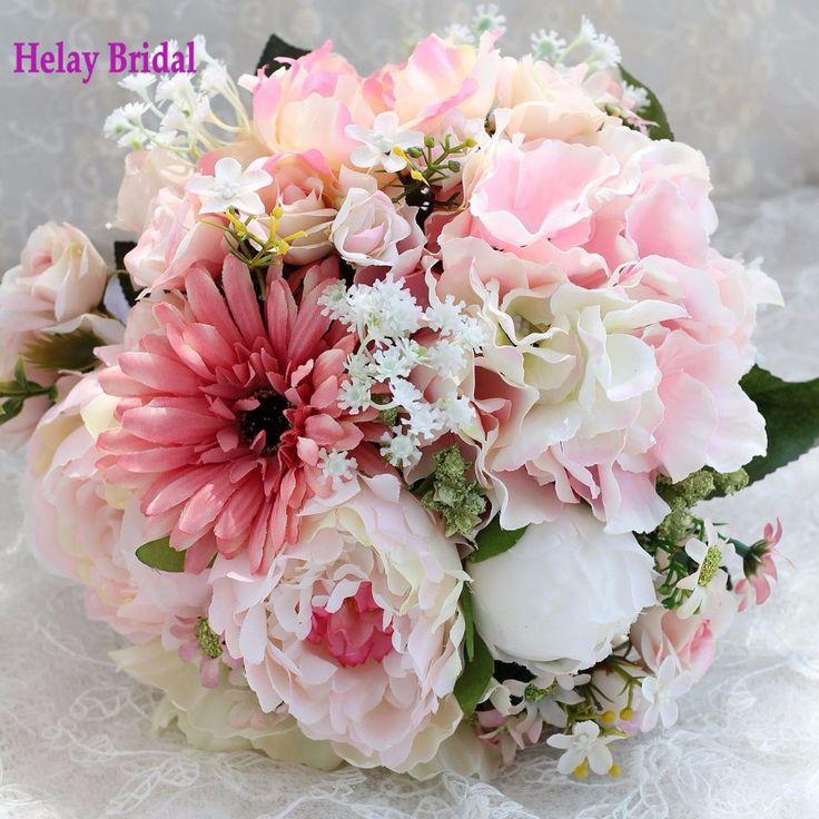 bouquet de mariage rose et blanc Wedding Bridesmaid Flower Bouquet