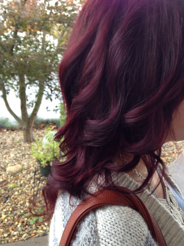 Fall red hair cherry cola organic color systems