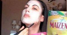 maschera viso amido di mais