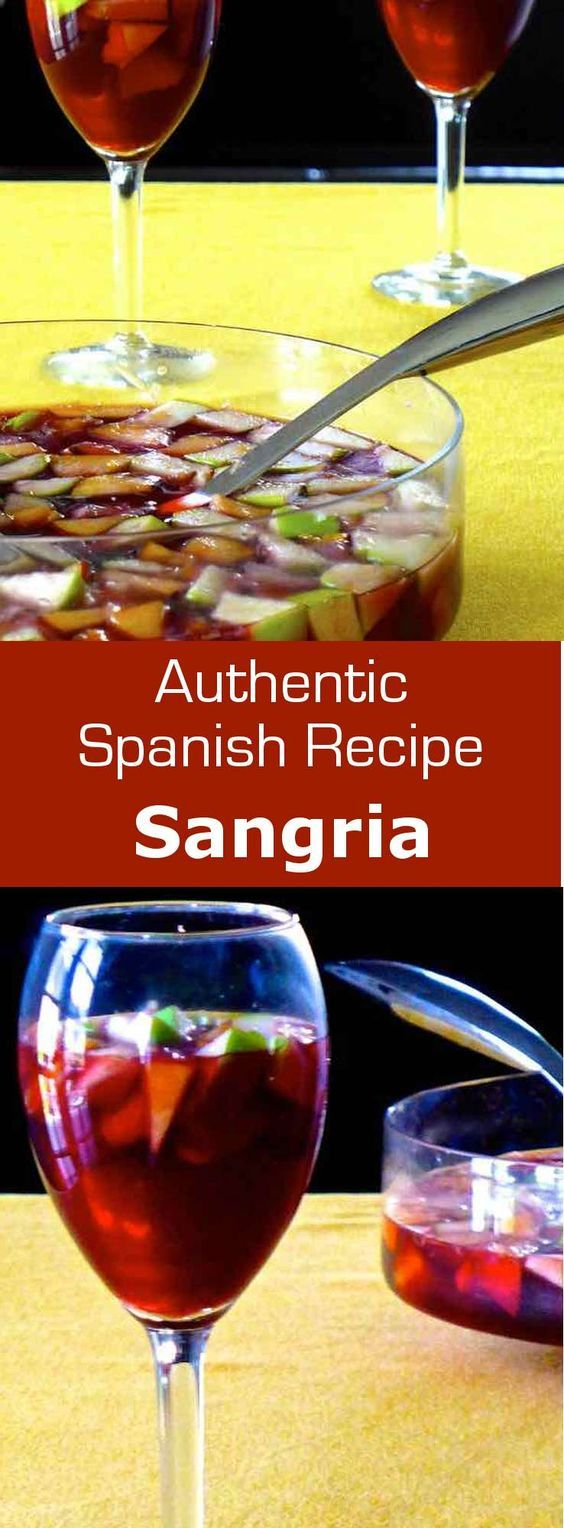 Sangria rhymes with festivity. Indeed, this drink is quite easy to prepare in large quantities and has a lower alcohol content. #Spain #drink #cocktail #beverage #196flavors