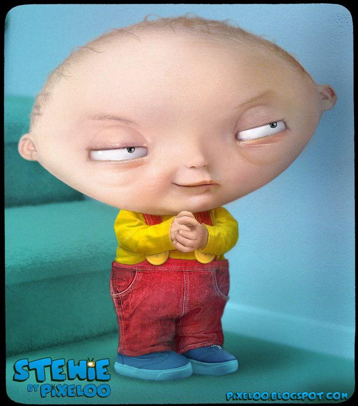 """Stewie Griffin """"untooned"""" - Pixeloo"""