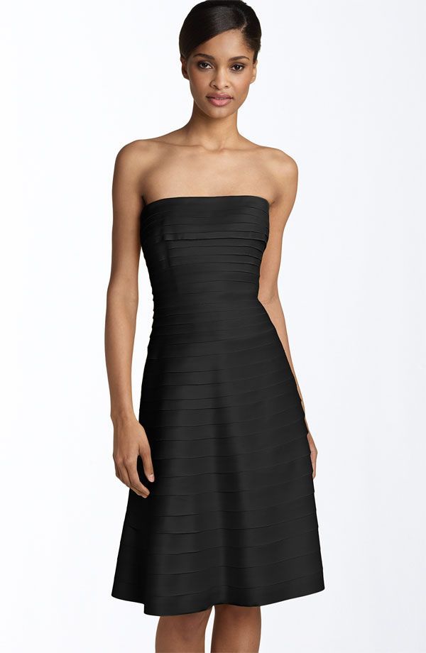 Strapless Black Cocktail Dress