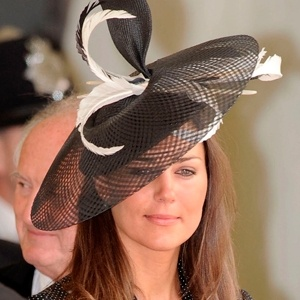 Kate Middleton's at an event at Windsor Castle Love the hat which was borrowed for the event-This hat was later sold at auction.