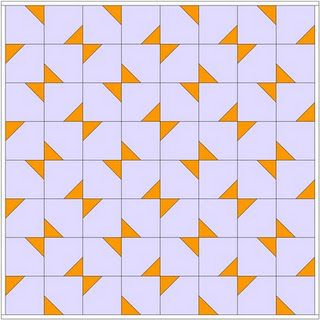 The Goose in the Corner - the link includes several possible layouts for this very simple square. It's a doer.