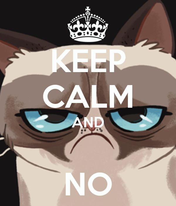 Keep calm and NO  p.s. Chronicle Books ha pubblicato il libro di Grumpy Cat